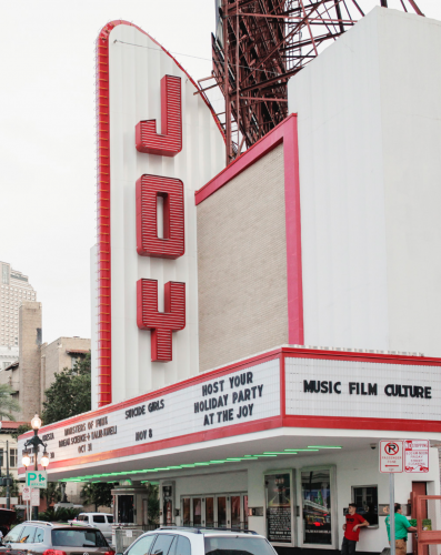*The Joy Theater is shuttered now due to the pandemic and its proximity to the demolition work on the Hard Rock Hotel collapse site.